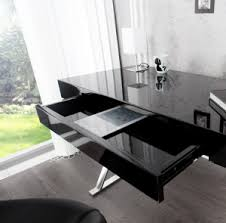 bureau design noir laqué d licieux acheter bureau design achat noir laque 300x295 beraue