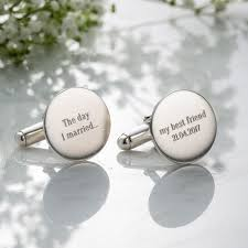 wedding message for a friend personalised wedding message cufflinks posh totty designs