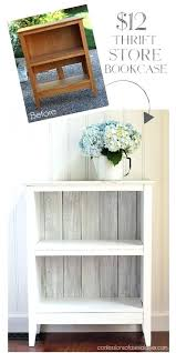 White Wood Bookcases Bookcase White Wood Shelves With Brackets White Solid Wood