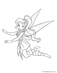 tinkerbell u2013 vidia 01 coloring page coloring page central