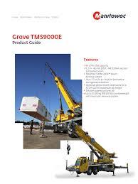 tms9000e product guide imperial 1 crane machine