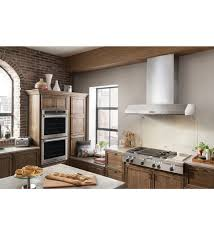 cuisine kitchenaid wall mounted range with built in lighting kxw9748yss