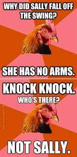 Rooster Jokes Meme - joke4fun memes why did sally fall off the swing