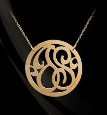 3 initial monogram necklace sterling silver sterling silver monogram necklace 3 initial monogram