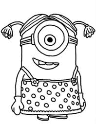 print minion despicable me coloring pages or download minion