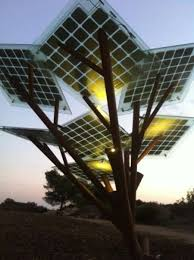 prime minister mike eman solar trees in the mainstreet
