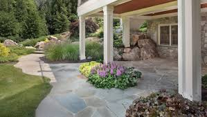 Patio Flagstone Designs Should You Use Flagstone Or Pavers In Your Backyard Patio Design
