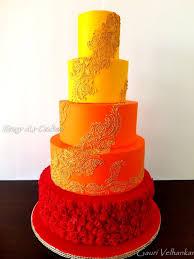 Henna Indian Wedding Cake Cake By Gauri Velhankar Cakesdecor
