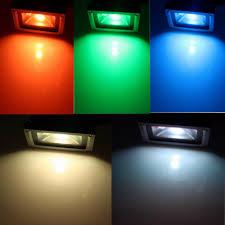 Green Flood Light Led Flood Lgiht Rgb 10w 20w 30w 50w Path Lamp Rgb Remote 24key