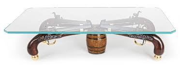 Tall Coffee Table by Classy One Of A Kind Gun Coffee Table