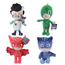 fun pj masks gekko catboy owlette romeo figure soft plush doll