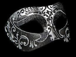 black masquerade mask settecento venetian masks silver black