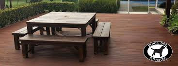 Solid Wood Patio Furniture by Rustic Furniture Nz Made Solid Wood Black Dog Furnitureblack Dog