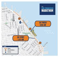 San Francisco Ferry Map by 5k The San Francisco Marathon