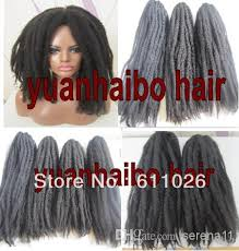 grey marley braid 2018 stock factory wholesale cheap price 20in black color afro