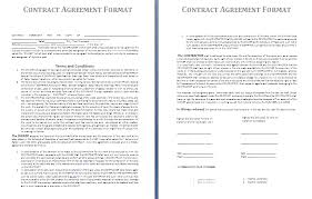 loan contract template contract agreement format gif letterhead
