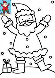 Dessins et illustrations de Noël  Coloriage Père Noël à imprimer