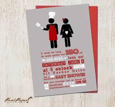 bbq baby shower invitations