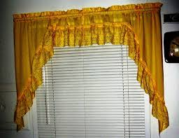 Yellow Window Curtains Installing Yellow Kitchen Curtains For The Bright And Warm Kitchen