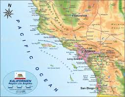Los Angeles Attractions Map los angeles california map