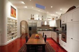 Mediterranean Tiles Kitchen - ragno tile kitchen mediterranean with area rug bookshelves built