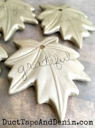 diy ceramic leaf ornaments thanksgiving or fall home decor