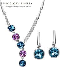 aliexpress necklace set images Buy neoglory made with swarovski elements brand jpg