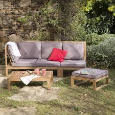 canape angle jardin canapé d angle de jardin 4 places table basse en acacia movea