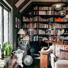 Dark Bookcase How To Decorate In A Maximalist Style Spotlight Dark And Room