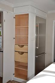 kitchen pantry cabinet refrigerator cabinet with side pantry how