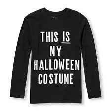 T Shirt Halloween Costumes by Boys Long Sleeve Glow In The Dark U0027this Is My Halloween Costume