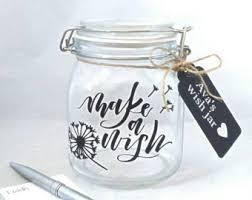 wedding wishes jar wish jar etsy