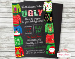 Ugly Christmas Sweater Party Supplies by Holiday Christmas Ugly Sweater Party Invitation 4x6