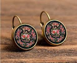 earrings online india handmade mandala flower stud earrings online shopping india