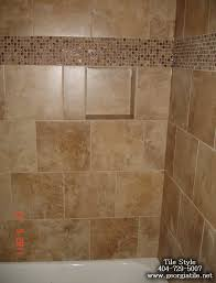 Bathroom Tile Border Ideas Colors Tiled Shower Designs Shower Niche Corner Shelf Glass Tile Border