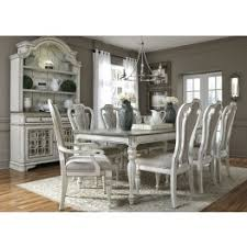 white dining room set magnolia manor antique white 90 extendable rectangular leg dining