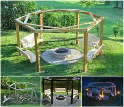 pergola fire pit swings diy project the whoot