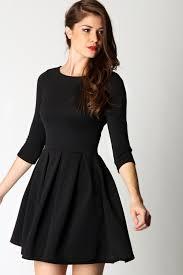 black skater dress black skater dress dressed up girl