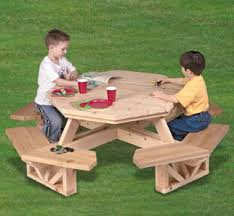 Free Hexagon Picnic Table Designs by Children Picnic Tables Outdoor Patio Tables Ideas