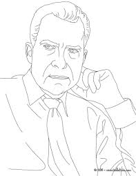 president richard nixon coloring pages hellokids com