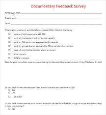 customer satisfaction report template service feedback surveys survey templates and worksheets