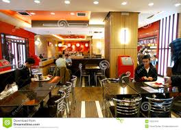 fast food restaurant interior editorial stock photo image 18331978