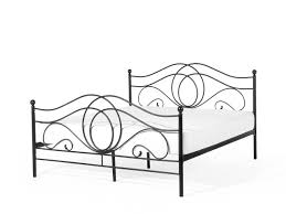 metal bed king size bed frame 160x200 cm black lyra