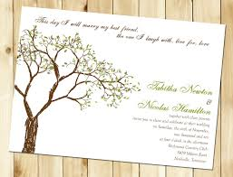 Wedding Announcement Templates Tree Wedding Invitation Afoodaffair Me