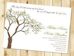 tree wedding invitation afoodaffair me