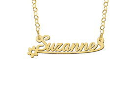 kids name necklace gold kids name necklace model suzanne