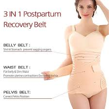 postpartum belly wrap high quality symbom 3 in 1 postpartum belly wrap recovery belly