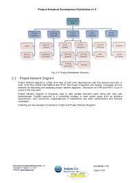 project schedule development guidelines