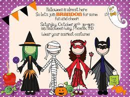halloween birthday party invitations lilbibby com