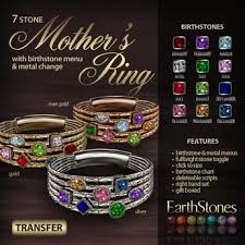mothers ring 7 stones second marketplace earthstones s ring 7 gift box